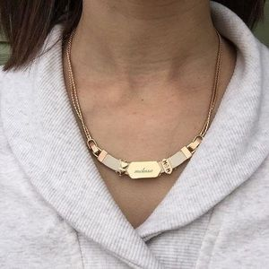 KEEP Collective leather & chain necklace
